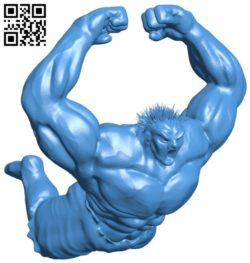 Mr Hulk low poly B005836 download free stl files 3d model for 3d printer and CNC carving
