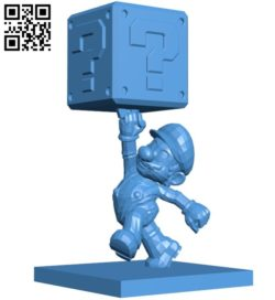 Mr Mario and Question Block B006153 download free stl files 3d model for 3d printer and CNC carving