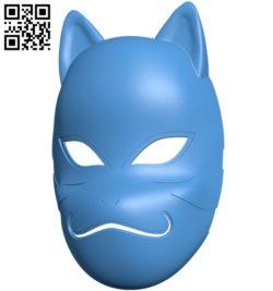 Naruto Kakashi Anbu Mask B005954 download free stl files 3d model for 3d printer and CNC carving