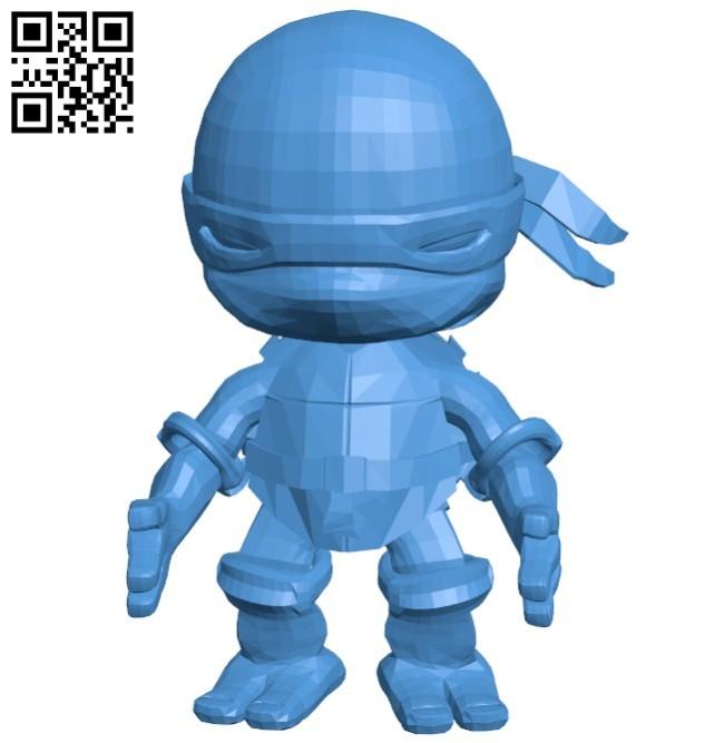 Ninja Turtles B005995 download free stl files 3d model for 3d printer and CNC carving