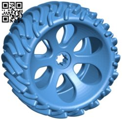Off road wheel B005823 download free stl files 3d model for 3d printer and CNC carving
