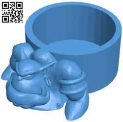 Orc mug B006120 download free stl files 3d model for 3d printer and CNC carving