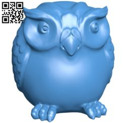 Owl B005946 download free stl files 3d model for 3d printer and CNC carving