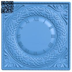 Pattern Wall clock A004244 download free stl files 3d model for CNC wood carving