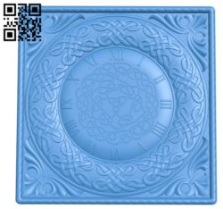 Pattern Wall clock A004326 download free stl files 3d model for CNC wood carving