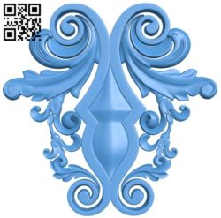 Pattern decor design A004311 download free stl files 3d model for CNC wood carving