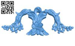 Pattern decor design A004343 download free stl files 3d model for CNC wood carving