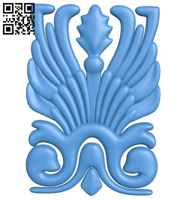 Pattern decor design A004391 download free stl files 3d model for CNC wood carving
