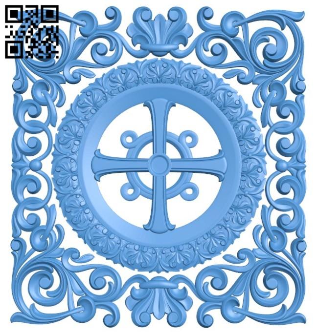 Pattern dekor square A004198 download free stl files 3d model for CNC wood carving