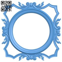 Pattern frames design circle A004216 download free stl files 3d model for CNC wood carving