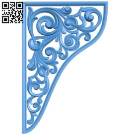 Pattern in the corner A004199 download free stl files 3d model for CNC wood carving
