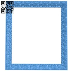 Picture frame or mirror A004218 download free stl files 3d model for CNC wood carving