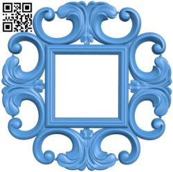 Picture frame or mirror A004239 download free stl files 3d model for CNC wood carving