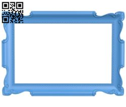 Picture frame or mirror A004273 download free stl files 3d model for CNC wood carving