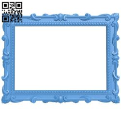 Picture frame or mirror A004274 download free stl files 3d model for CNC wood carving