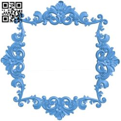 Picture frame or mirror A004283 download free stl files 3d model for CNC wood carving