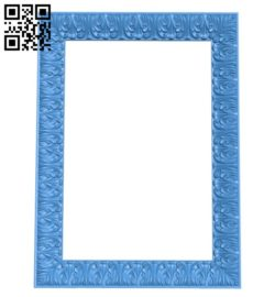 Picture frame or mirror A004295 download free stl files 3d model for CNC wood carving