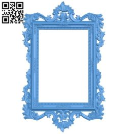 Picture frame or mirror A004298 download free stl files 3d model for CNC wood carving
