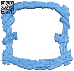 Picture frame or mirror A004321 download free stl files 3d model for CNC wood carving