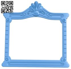Picture frame or mirror A004344 download free stl files 3d model for CNC wood carving