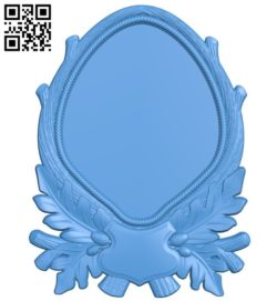 Picture frame or mirror A004348 download free stl files 3d model for CNC wood carving