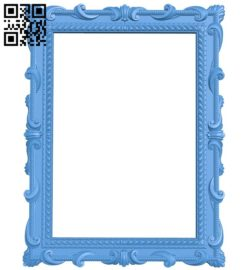 Picture frame or mirror A004349 download free stl files 3d model for CNC wood carving