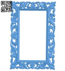 Picture frame or mirror A004350 download free stl files 3d model for CNC wood carving