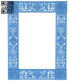 Picture frame or mirror A004364 download free stl files 3d model for CNC wood carving