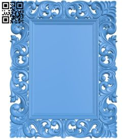 Picture frame or mirror A004365 download free stl files 3d model for CNC wood carving