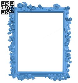Picture frame or mirror A004366 download free stl files 3d model for CNC wood carving