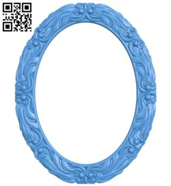 Picture frame or mirror – Oval A004351 download free stl files 3d model for CNC wood carving