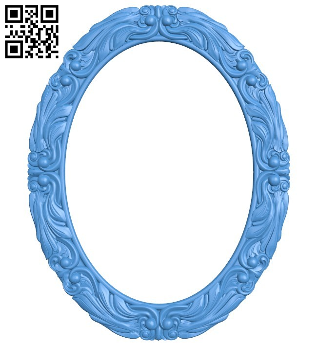 Picture frame or mirror - Oval A004351 download free stl files 3d model for CNC wood carving