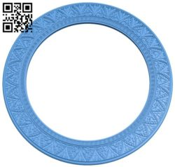 Picture frame or mirror circular A004296 download free stl files 3d model for CNC wood carving
