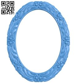 Picture frame or mirror ellipse A004297 download free stl files 3d model for CNC wood carving