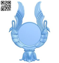 Picture frame or mirror – wings A004352 download free stl files 3d model for CNC wood carving