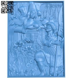 Picture goddess of fertility A004268 download free stl files 3d model for CNC wood carving