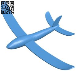 Planes simple glider B005992 download free stl files 3d model for 3d printer and CNC carving