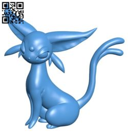 Pokemon Espeon B006040 download free stl files 3d model for 3d printer and CNC carving