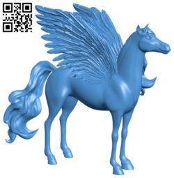 Pretty pegasus – Unicorn B005964 download free stl files 3d model for 3d printer and CNC carving