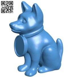 Puppy dog with collar B006074 download free stl files 3d model for 3d printer and CNC carving