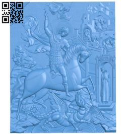 Religious painting destroys monsters A004222 download free stl files 3d model for CNC wood carving
