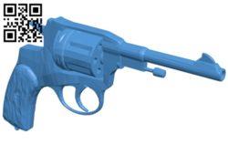Revolver Nagan M1895 – Gun B006159 download free stl files 3d model for 3d printer and CNC carving