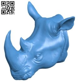 Rhino head B006062 download free stl files 3d model for 3d printer and CNC carving
