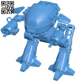 Robot ED209 B006085 download free stl files 3d model for 3d printer and CNC carving