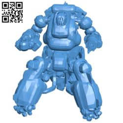 Robot Sentry Bot B006118 download free stl files 3d model for 3d printer and CNC carving
