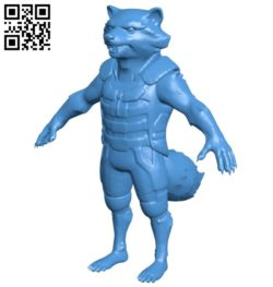 Rocket Racoon B006170 download free stl files 3d model for 3d printer and CNC carving