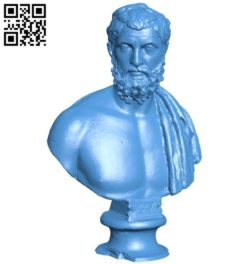 Roman bust B005955 download free stl files 3d model for 3d printer and CNC carving