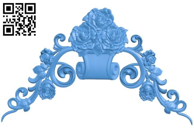 Rose pattern dekor A004208 download free stl files 3d model for CNC wood carving