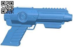 Sci-fi blaster gun B006005 download free stl files 3d model for 3d printer and CNC carving