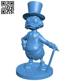 Scrooge on stand B006158 download free stl files 3d model for 3d printer and CNC carving